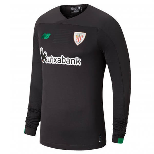 Maillot Athletic Bilbao ML Gardien 2019-20 Gris Noir